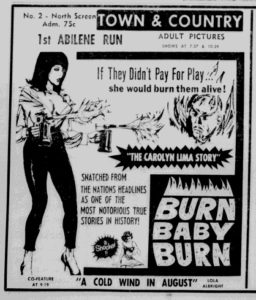 <i>The Carolyn Lima Story</i> Newspaper Ad (1966)